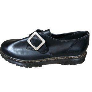 Griffin Black Leather Loafers